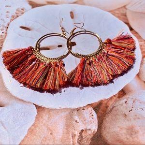 Jewelry - Boho Fan tassel earrings